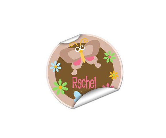 Butterfly Round Labels 45pk