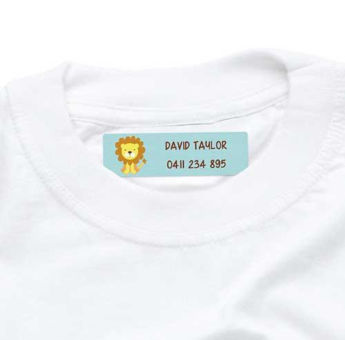 Cute Lion Labels Iron On 44pk