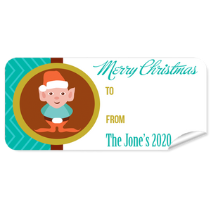 Elf Christmas Labels 27pk