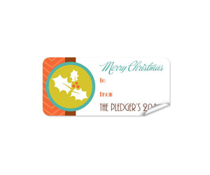 Holly Christmas Labels 27pk