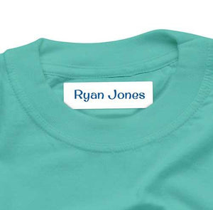Surfer Blue Labels Iron On 44pk