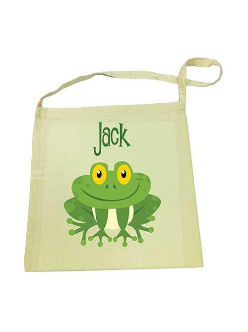 Green Frog Library Bag