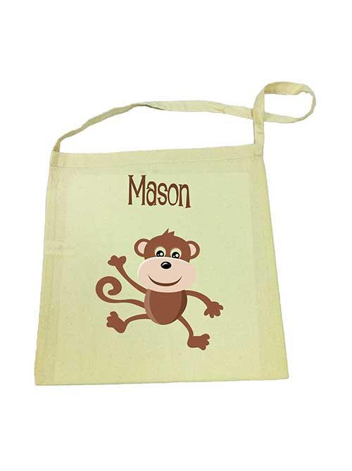 Brown Monkey Library Bag