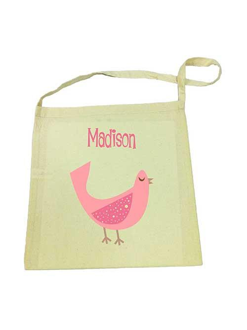 Pink Dove Library Bag