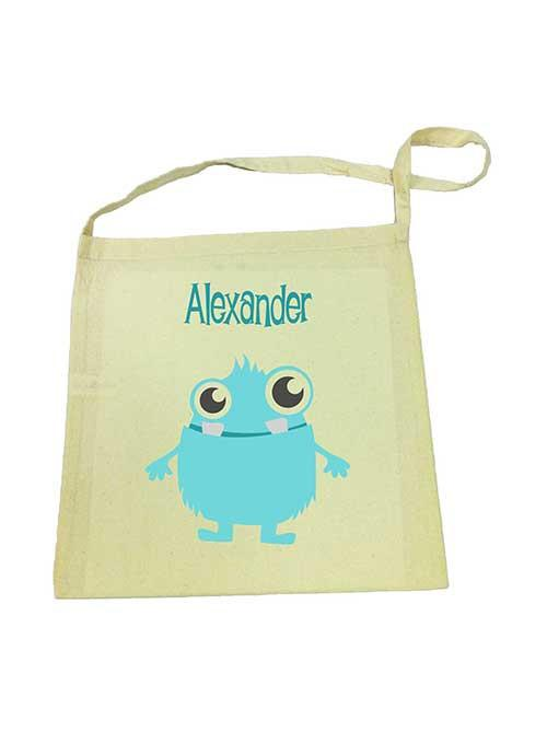 Blue Alien Library Bag