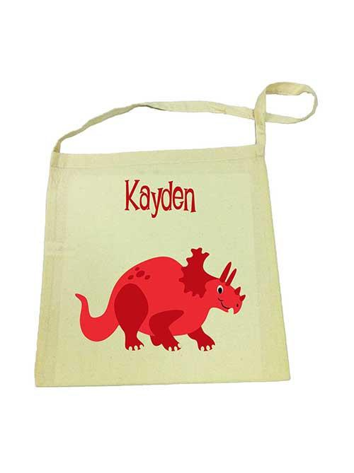 Red Dinosaur Library Bag