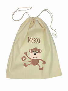 Brown Monkey Bag Drawstring