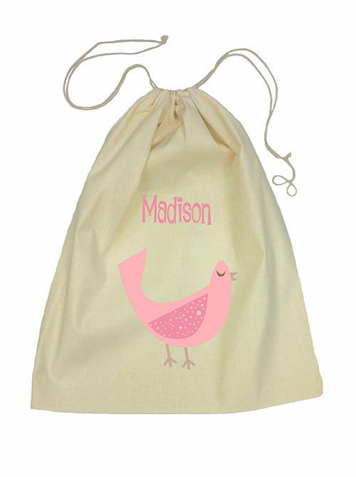 Pink Dove Bag Drawstring