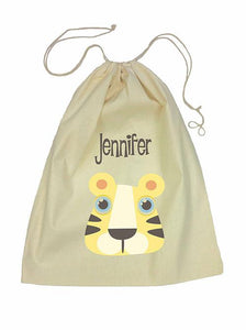 Yellow Tiger Bag Drawstring