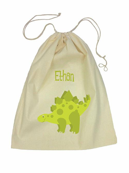Green Dinosaur Bag Drawstring