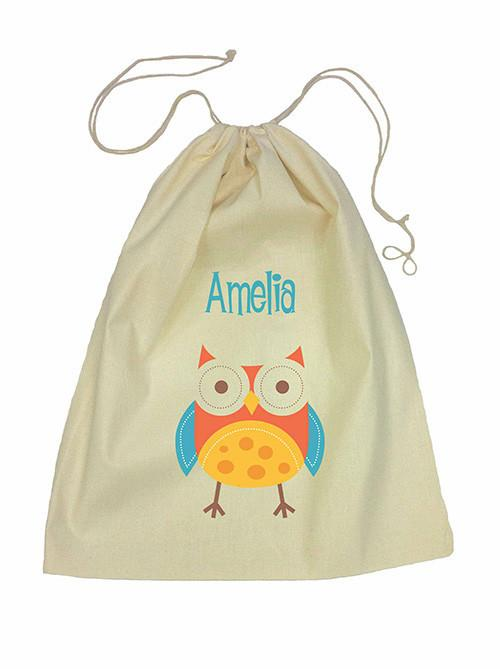 Red Owl Bag Drawstring