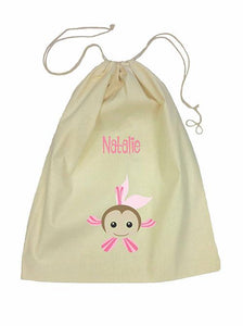 Pink Fish Bag Drawstring