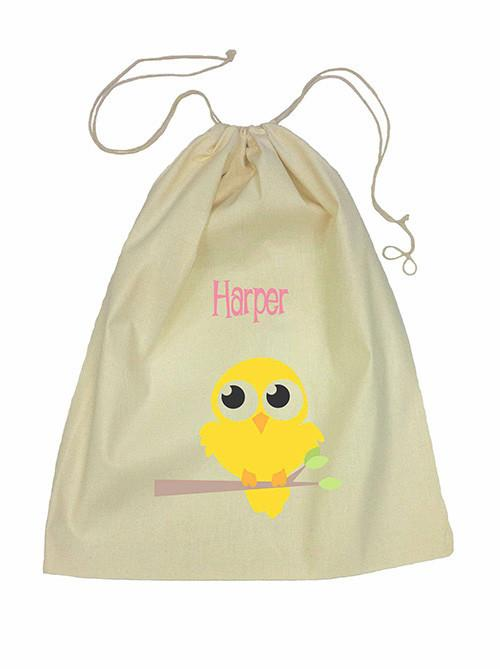 Yellow Bird Bag Drawstring