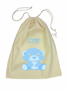 Blue Bear Bag Drawstring