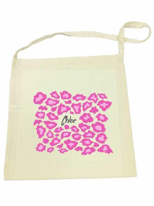 Pink Leopard Library Bag