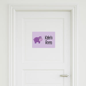 Hippo Medium Door Sign