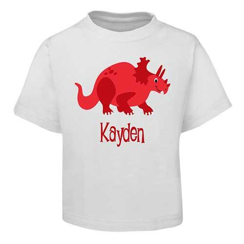 Red Dinosaur Kids T-Shirt