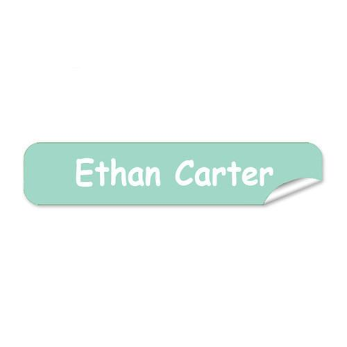 Teal Mini Name Labels