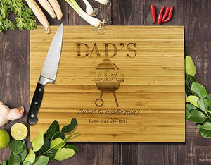 "BBQ Bamboo Cutting Boards 8x11"" (Temporary Out of Stock)"