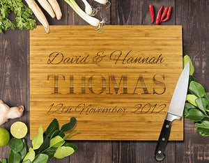 Thomas Bamboo Cutting Board 8x11""