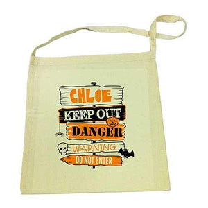 Keep Out  Halloween Library Bag