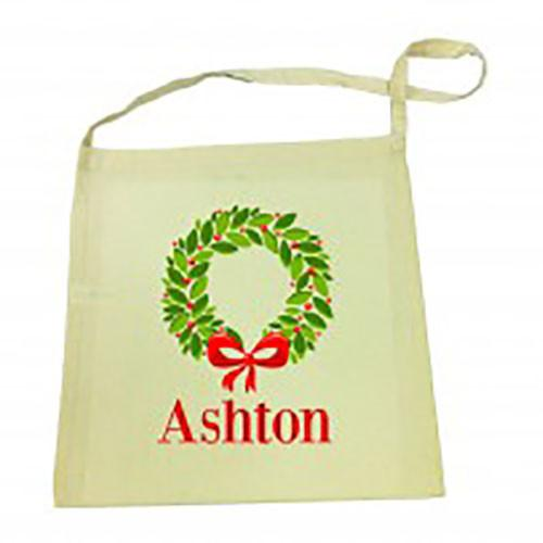 Christmas Wreath Christmas Library Bag