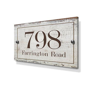 Rustic Effect Metal House Sign