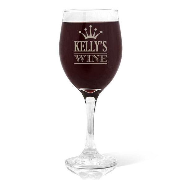 Double Heart Design Wine Glass (410ml)