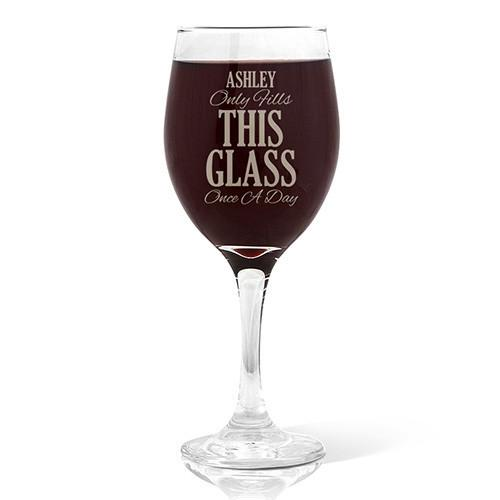 Once A Day Design Wine Glass (410ml)