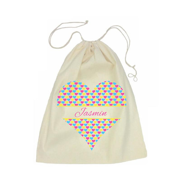 Heart Drawstring Bag