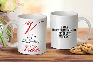 V is for Vodka Mug