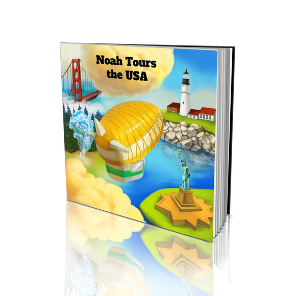Tours the USA Large Soft Cover Story Book
