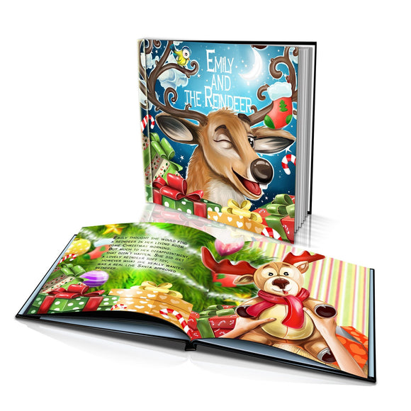 Santa's Reindeer Large Hard Cover Story Book