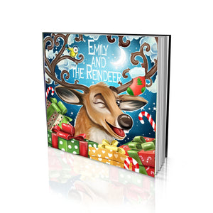 Santa's Reindeer Large Soft Cover Story Book
