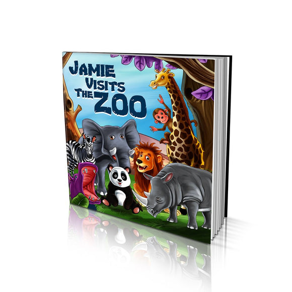Visits the Zoo Large Soft Cover Story Book