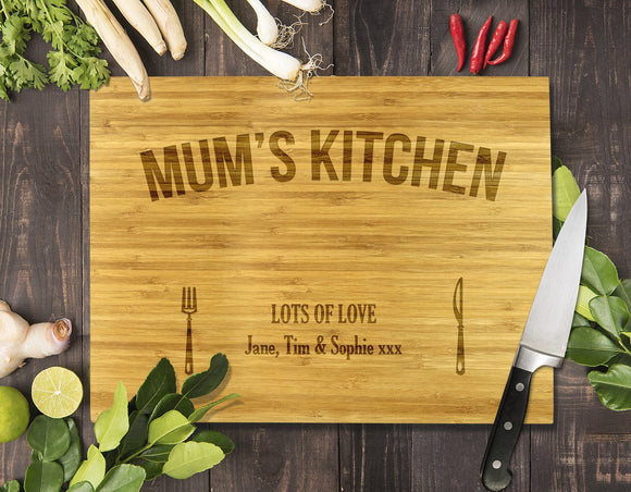 Mum's Kitchen Bamboo Cutting Board 8x11