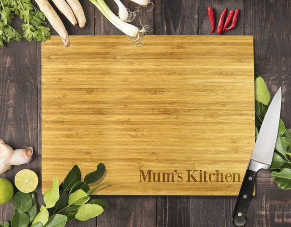 Simple Mum's Kitchen Bamboo Cutting Board 8x11
