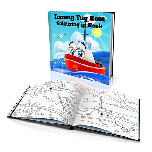 The Tug Boat Hard Cover Colouring Book