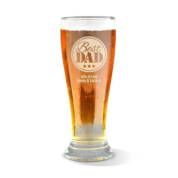 Best Dad Premium 425ml Beer Glass