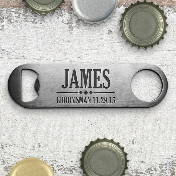 Groomsman Engraved Bottle Opener