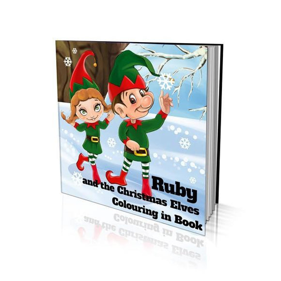 The Christmas Elves Soft Cover Colouring Book