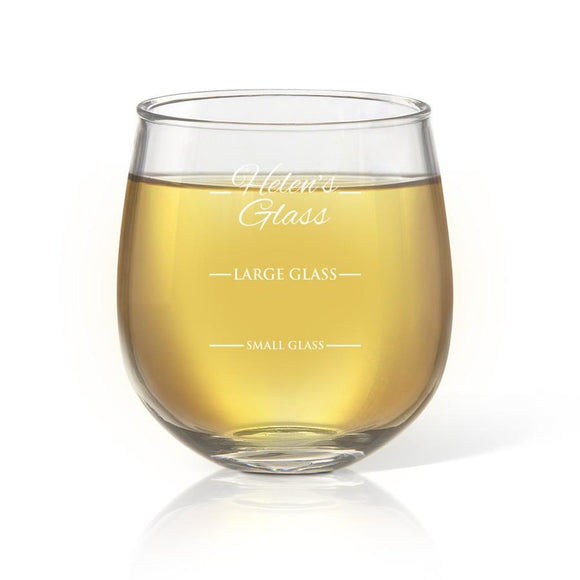Person's Stemless Wine Glass