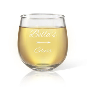 Name Stemless Wine Glass