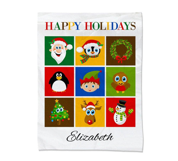 Christmas Collage Blanket Large