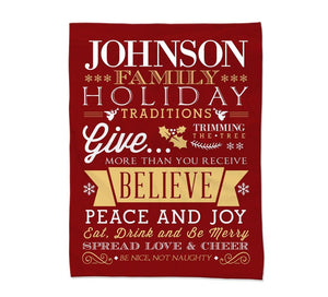 Holiday Rules Blanket Small