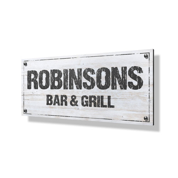 Bar & Grill Business Sign - 24x12