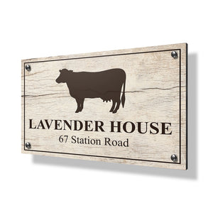 Cow Business Sign - 30x20""