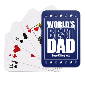 World's Best Dad Playing Cards