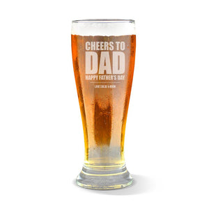Cheers to Dad Premium 285ml Beer Glass
