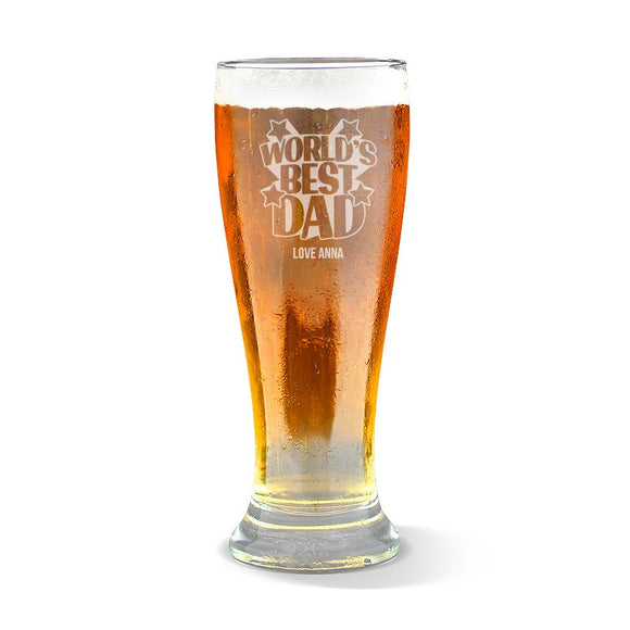 World's Best Dad Premium 425ml Beer Glass
